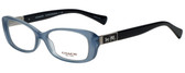 Coach Designer Eyeglasses HC6063-5259 in Milky Blue/Black 53mm :: Rx Single Vision