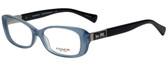 Coach Designer Eyeglasses HC6063-5259 in Milky Blue/Black 53mm :: Rx Bi-Focal