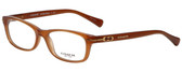 Coach Designer Reading Glasses HC6054-5251 in Milky Saddle 52mm