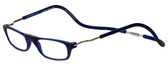 Clic Magnetic Eyewear XXL Fit Original Style in Frosted Blue :: Rx Bi-Focal