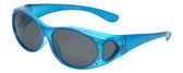 Calabria RS8866POL Polarized FitOver Sunglasses with Rhinestone Medium Size