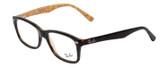 Ray Ban Prescription Eyeglasses RX5228-5057 Dark Havana/Beige 53mm Progressive Lens