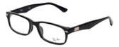 Ray Ban Designer Reading Eye Glasses RX5206F-2000 Black 54mm