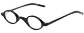 EyeBobs Old Money Designer Reading Eye Glasses 2105-11 in Black/Black-White Stripe 35mm