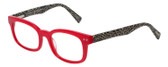 EyeBobs Losing It Designer Reading Eye Glasses in Red/Marble Zebra Print 48mm