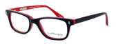 Ernest Hemingway Designer Eyeglasses H4617 in Black-Red 56mm :: Rx Single Vision