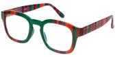 Calabria Designer Blue Light Block Reading Glasses Green/Purple/Red