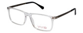 Vivid Designer Reading Eyeglasses 891 in Glossy Crystal Clear 55 mm Rx SV