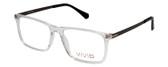 Vivid Designer Reading Eyeglasses 891 in Glossy Crystal Clear 55 mm Bi-Focal