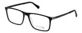 Vivid Designer Reading Eyeglasses 891 in Glossy Black/Crystal Clear 55 mm