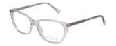 Vivid Designer Reading Eyeglasses  886 in Shiny Crystal 53 mm