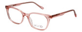 Vivid Designer Reading Eyeglasses 912 Crystal Rose Pink Clear 51 mm Custom Lens