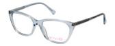 Vivid Designer Reading Eye Glasses 886 in Shiny Light Blue 53 mm Custom Lens