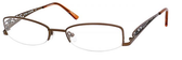 Dale Earnhardt, Jr Designer Eyeglasses 6706 in Brown Metal Frames -51mm Custom Lens