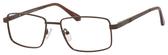Dale Earnhardt, Jr Designer Eyeglasses 6817 in Satin Brown 53mm Progressive