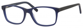 Esquire Mens EQ1546 Eyeglasses Blue Frames and Black Temples 54 mm Progressive