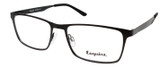 Esquire EQ1524 Rectangular Metal Frame Eyeglasses in Satin Black 55 mm