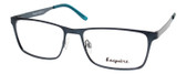 Esquire EQ1524 Designer Metal Frame Eyeglasses in Satin Navy 55 mm