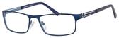 Esquire Mens EQ1551 Metal Frame Reading Eyeglasses in Navy 54mm Progressive