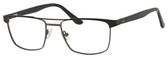 Esquire EQ1565 Mens Rectangle Metal Eyeglasses in Black/Gunmetal 53 mm Progressive