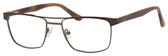 Esquire EQ1565 Mens Rectangle Frame Reading Eyeglasses in Brown 53 mm Progressive