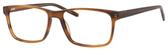 Esquire EQ1566 Mens Rectangle Frame Eyeglasses in Brown Amber 57 mm Progressive