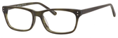 Ernest Hemingway H4684 Unisex Oval Reading Eyeglasses in Olive Green 53 mm