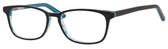 Ernest Hemingway H4688 Unisex Oval Reading  Eyeglasses in Black/Blue 53 mm