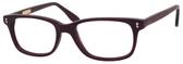 Ernest Hemingway H4617 Unisex Rectangular Frame Eyeglasses Matte Burgundy 52 mm Custom Lens
