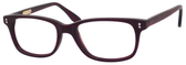 Ernest Hemingway H4617 Unisex Rectangular Frame Eyeglasses Matte Burgundy/Red 48 mm Custom Lens