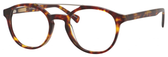 Ernest Hemingway H4826 Unisex Round Frame Eyeglasses in Shiny Tortoise 50 mm RX SV