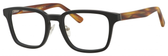Ernest Hemingway H4827 Unisex Square Frame Eyeglasses in Black/Amber 51 mm RX SV