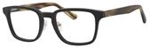Ernest Hemingway H4827 Unisex Square Frame Eyeglasses in Black/Olive 51 mm