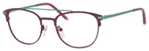 Ernest Hemingway H4832 Womens Round Eyeglasses in Burgundy/Teal 49 mm Custom Lens