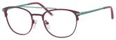 Ernest Hemingway H4832 Womens Round Eyeglasses in Burgundy/Teal 49 mm