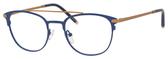 Ernest Hemingway H4832 Womens Round Eyeglasses in Navy/Bronze 49 mm RX SV