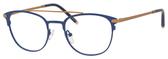 Ernest Hemingway H4832 Womens Round Eyeglasses in Navy/Bronze 49 mm