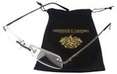 Donald Trump Designer Rimless Metal Reading Glasses DTR 03 Gunmetal Silver 50mm
