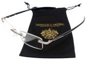 Donald Trump Designer Rimless Metal Reading Glasses DTR 06 Gunmetal Silver 48mm