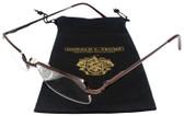 Donald Trump Designer Semi-Rimless Metal Reading Glasses DTR07 Brown Copper 49mm