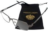 Donald Trump Designer Metal Reading Glasses DTR 08 in Dark Gunmetal Black 55mm