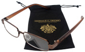 Donald Trump Authentic Designer Metal Reading Glasses DTR 09 in Shiny Brown 52mm