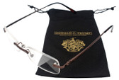 Donald Trump Designer Rimless Metal Reading Glasses DTR 10 in Brown Copper 50mm