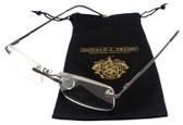 Donald Trump Designer Rimless Metal Reading Glasses DTR 10 Gunmetal Silver 50mm