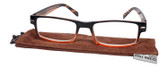 Calabria Jordan 2 Rectangular Designer Reading Glasses 50mm