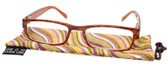 Calabria Mira Rectangular Designer Reading Glasses 50mm