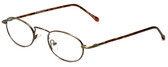 Calabria FlexPlus 62 Ant Gold Amber Eyeglasses :: Custom Left & Right Lens