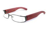 Calabria Designer Eyeglasses Bamboo 65 Gun-Metal & Brown :: Custom Left & Right Lens