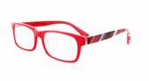 Calabria 857 Designer Eyeglasses in Red :: Custom Left & Right Lens