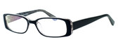 Moda Vision 8004 Designer Eyeglasses in Black :: Custom Left & Right Lens